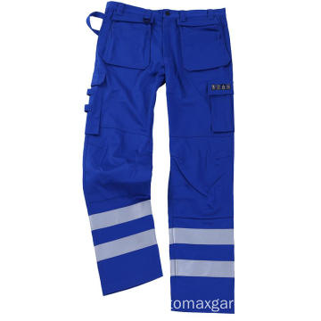 Blue Flame Retardant Pants dengan Silver Tape