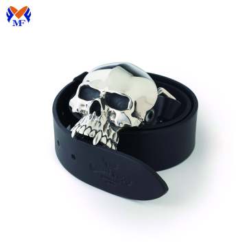 Zinc alloy skull head belt buckle for sale