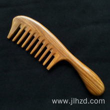 sandalwood massage wide tooth comb for curly hair