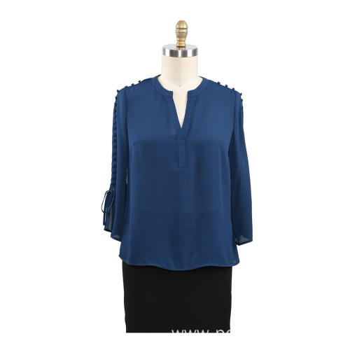 Long Sleeves Blouse Casual Ladies Shirt