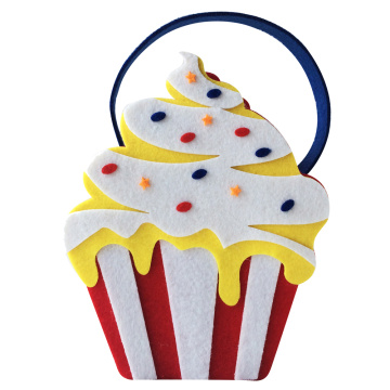 Happy Birthday  Candy bag with cake shape
