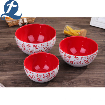 Wholesale color tableware home round fruit salad bowl ceramic