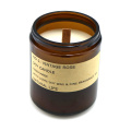 Scented Paraffin Pillar Glass Candle