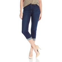 Wholesale Dark Blue Women's Organic Cotton Capris Jeans