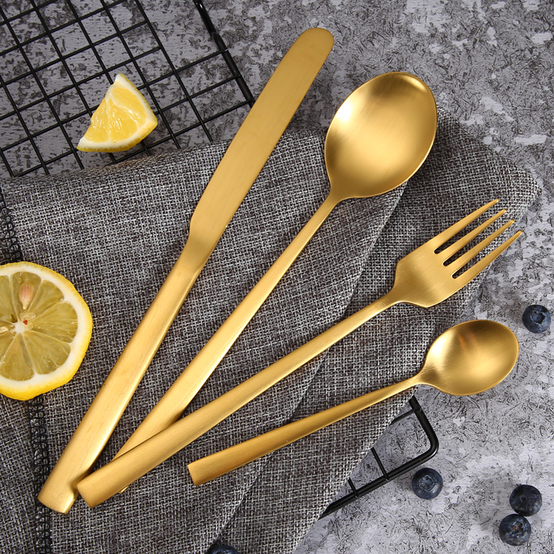 PVD Gold Plated Stainless Steel Flatware