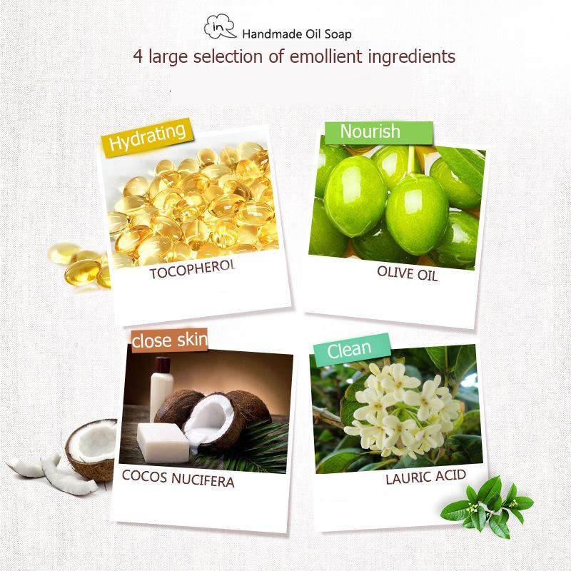 Organic Matcha Green Tea Handmade Soap Skin Whitening Moisturizing Face Cleansing Soap Remove Acne Cleansing Bath Bar Soap 100g