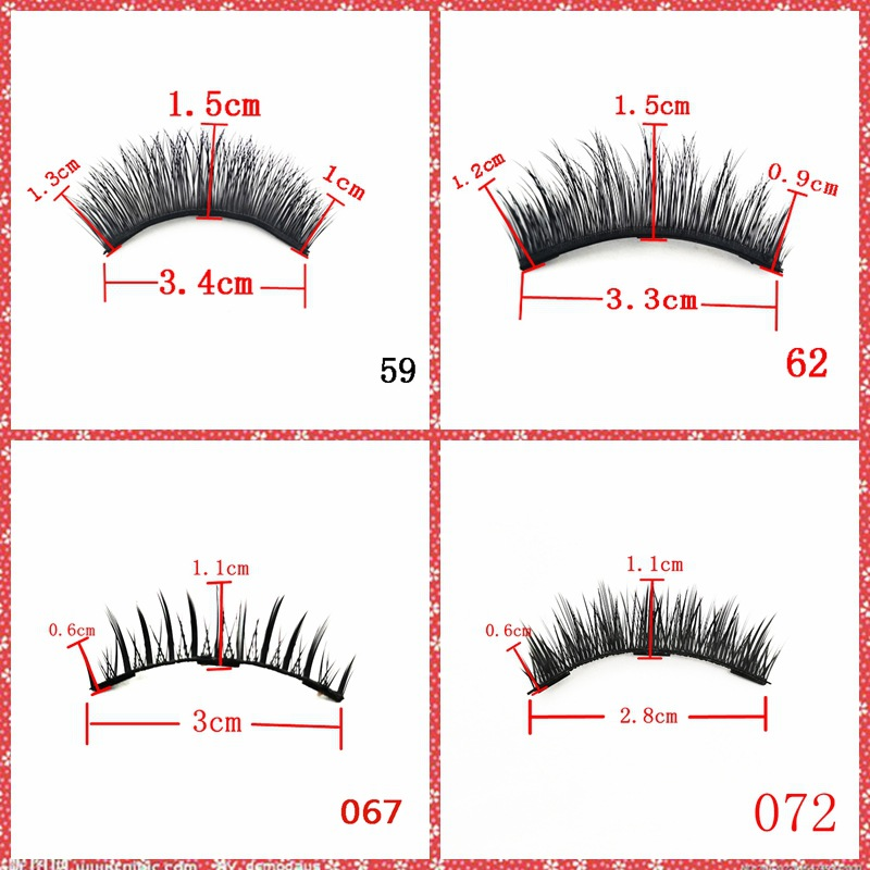 Two pairs magnetic false eyelashes with eyeliner and tweezer