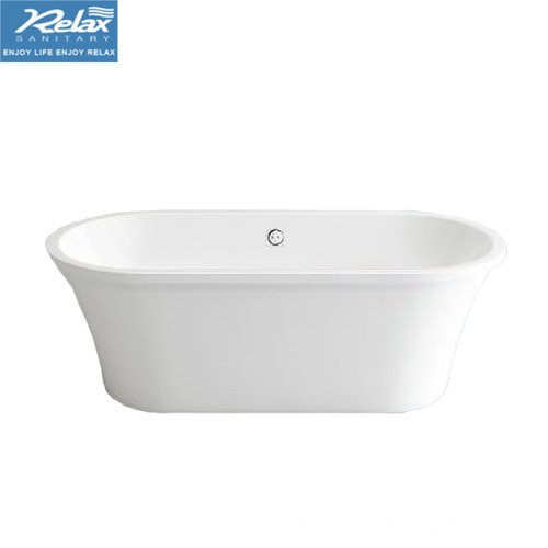 Gloss White freestanding acrylic bathtub