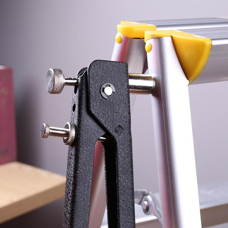 6pcs/Set Hand Riveter Nut Rivet Gun Kit M3-M8 Manual Threaded Nut Rive Tool kit Stainless Steel Nuts Metric Thread For Screws