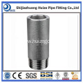 Stainless steel barrel nipple with npt thread