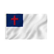Custom Design Christian Flag with Brass Grommets