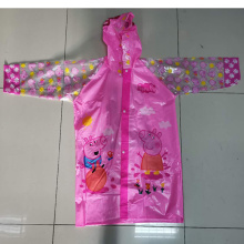 Cartoon pvc rain coat  child rain jacket