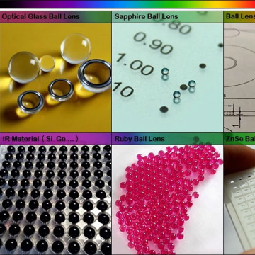 Optical Precision Ruby Ball Lens/Half Ball Lens