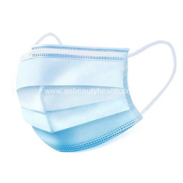 Disposable three-layer protective mask