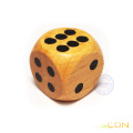 Round-corner wooden dice with painted spots 20MM