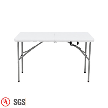 Folded table and chairs set plastic rectangular