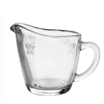 Spring style glass milk creamer for coffee