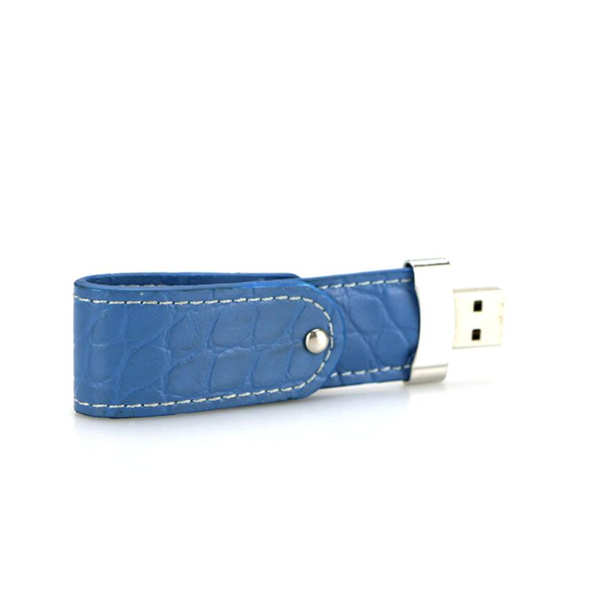 blue leather usb flash drive 2