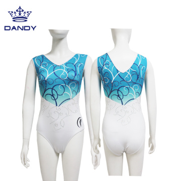 Custom sleeveless gymnastics leotards