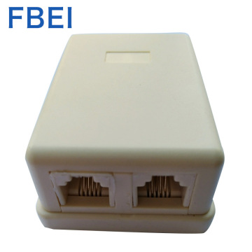 RJ11 / 12 6P4C Telefon Dual Port Sarface Box