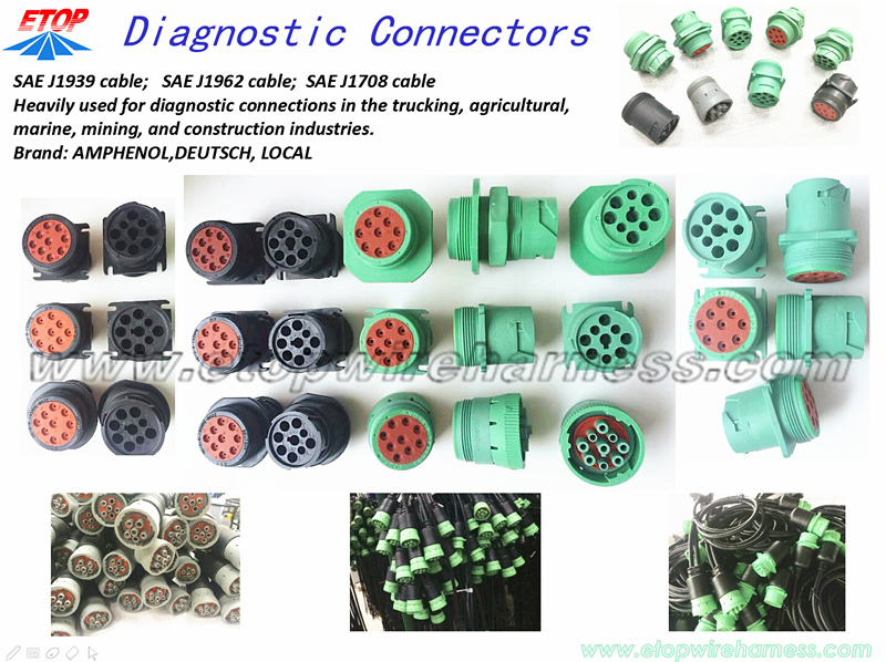 J1939 diagnostic connectors