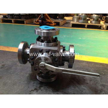 4-Way Floating Ball Valve