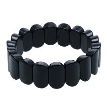 Ins hot selling jewelry Russian raw ore sub shungite hand natural stone bracelet shungite natural sub graphite Bracelet