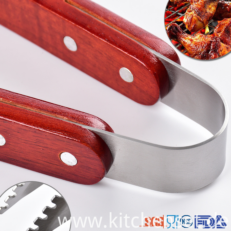 Bbq Tool Set Wooden Handle