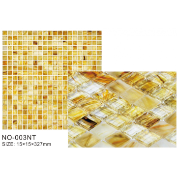 Golden Frosted Ice Series Luxury Mosaic Tiles