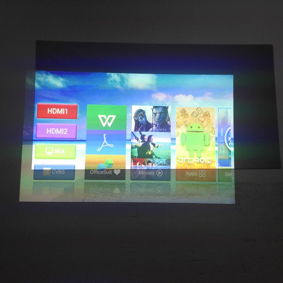 Smartldea Simple Projection Screen 84inch 100inch(16:9) Reflective Fabric Projector Projection Screen Increase Brightness