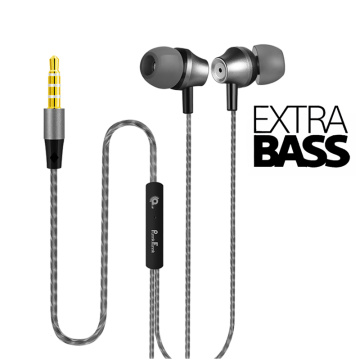 PunnkFunnk Metal Wired Earphone 1.2M Deep Bass Stereo sport in-ear headphoneW/Mic Volume Control For Samsung Iphone 5 6 7 8 11