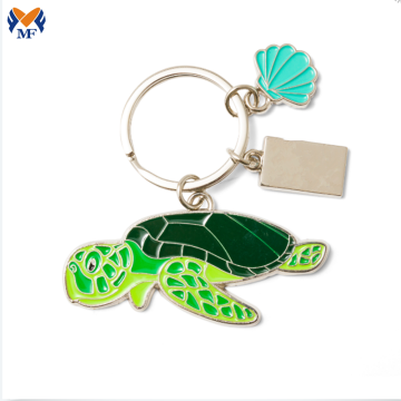 Metal Custom Logo Animal Sea Turtle Keychain