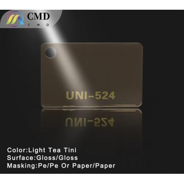Light Tea Tint Colored Cast Acrylic Sheets