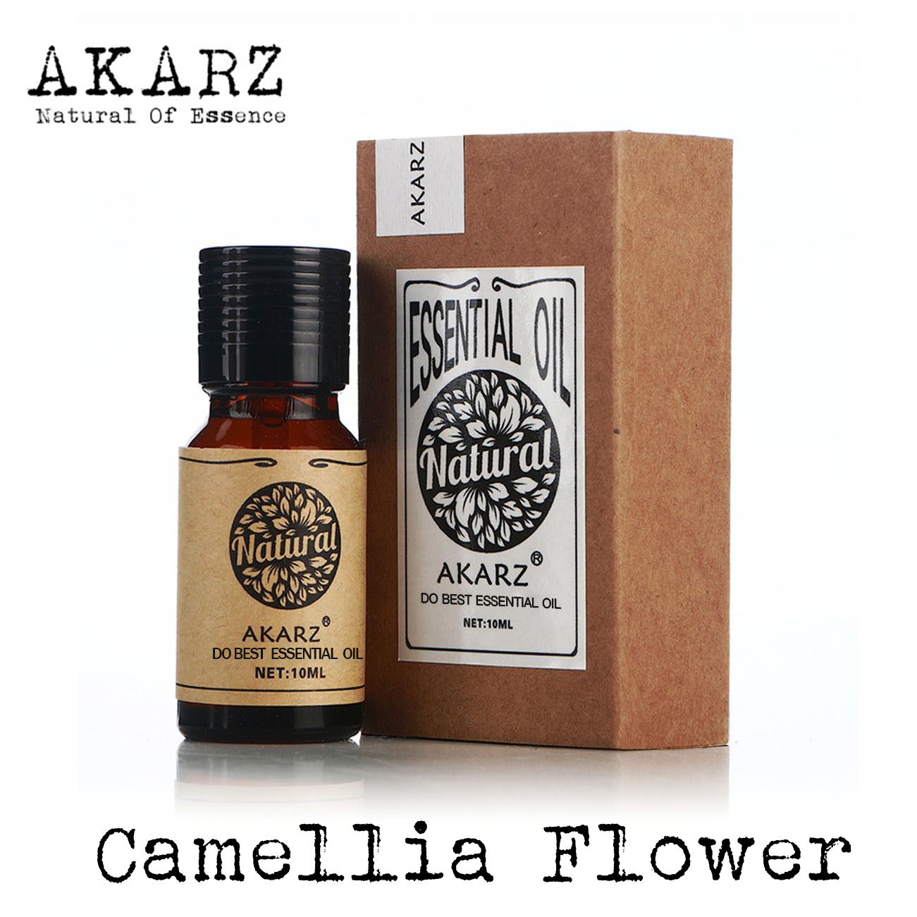 Camellia flower essential oil AKARZ Top Brand body face skin care spa message fragrance lamp Aromatherapy camellia flower oil