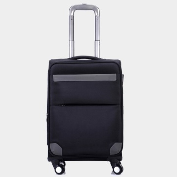 Black cheap fabric polyester carrier soft travel luggage