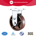 8'' Heavy Duty Plate Rigid High Temperature Caster