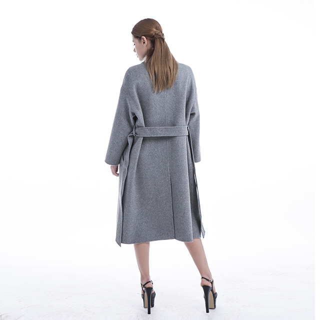 Grey cashmere overcoat