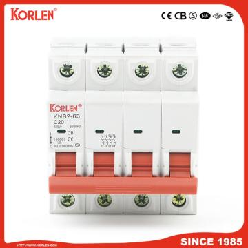 KORLEN patented mini circuit breaker 1A-63A 10KA MCB