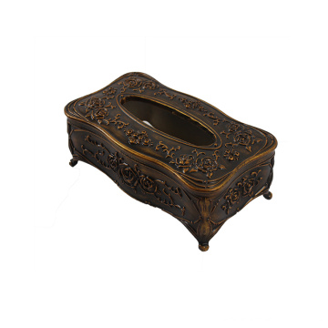 European Style Retro Wooden Tissue Box