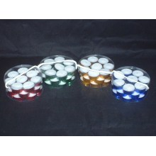 White Tealight Candle in Colorful Cups