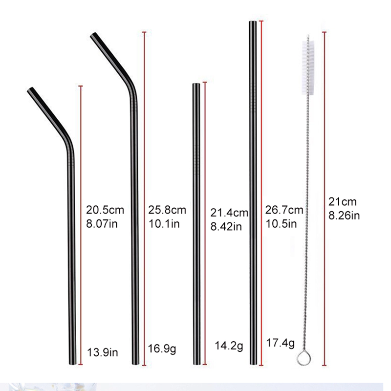 18-8 Glisten Stainless Steel Straw