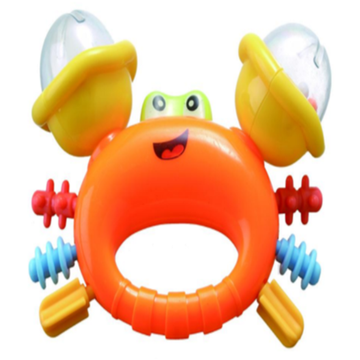 Educational Infant Bell Toy Cute Crab Rattle