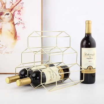 Modern Home Wine Bottle Rack Metal Wine Holders