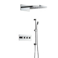 HIDEEP Wall Mounted Thermostatic Rain Shower Faucet Set