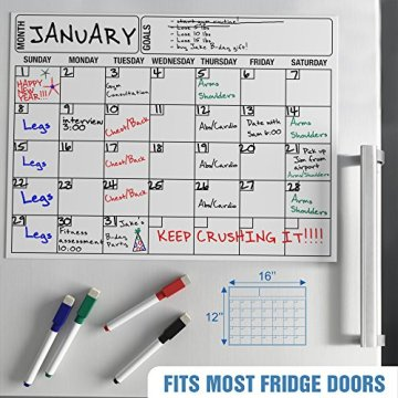 Custom dri eras fridge magnetic calendar