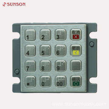 Stainless Steel Encryption PIN pad for Payment Kiosk