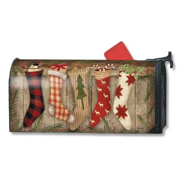 Custom Outdoor Christmas Stocking Magnet Mailbox Cover