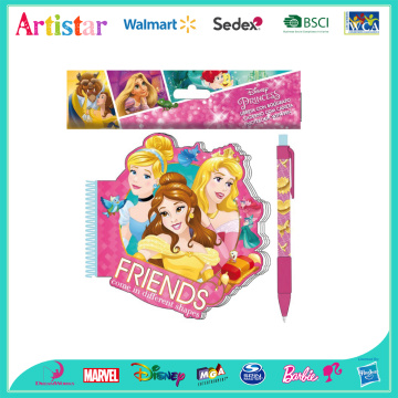 DISNEY PRINCESS opp bag backing notebook with pen