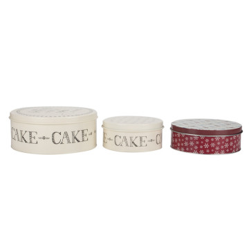 Cake Storage Box Metal Cookie Storage Tin