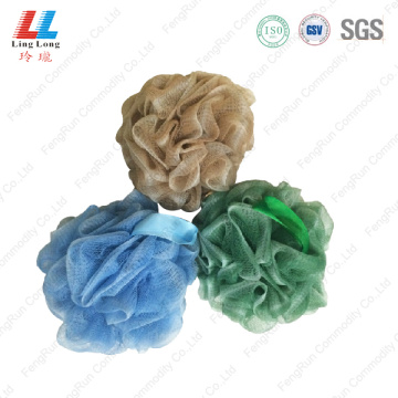 Dark color style silk mesh bath ball